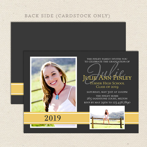high school graduation announcement printable