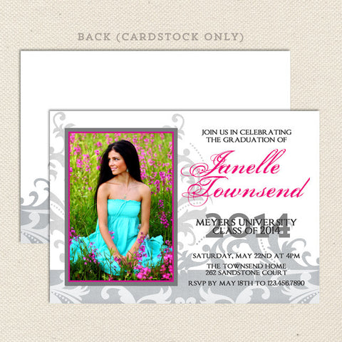 inspired grad graduation announcements