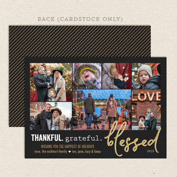grateful thankful blessed printable christmas card