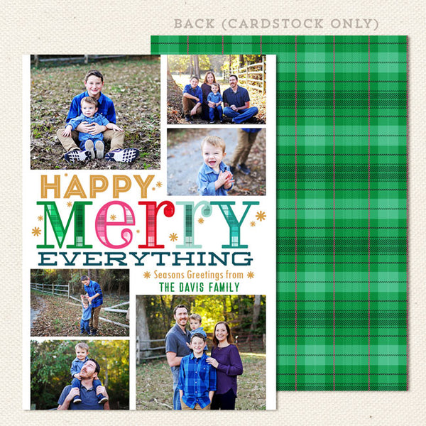 happy merry everthing printable christmas card