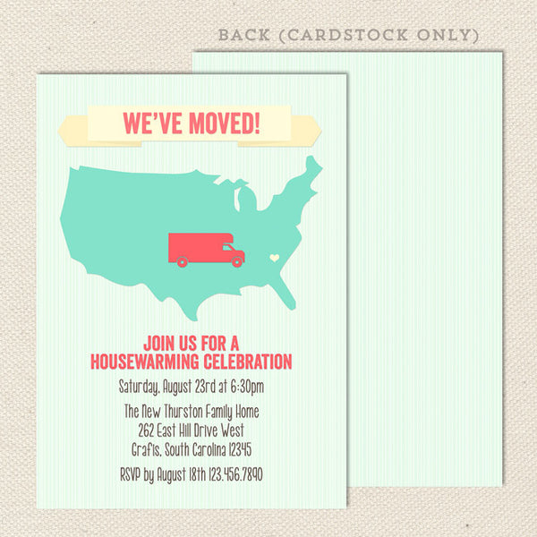 across the map housewarming invitations
