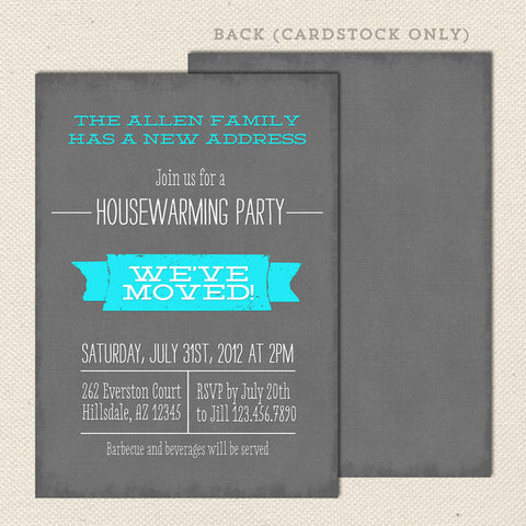 housewarming invitations moving announcements lil sprout greetings