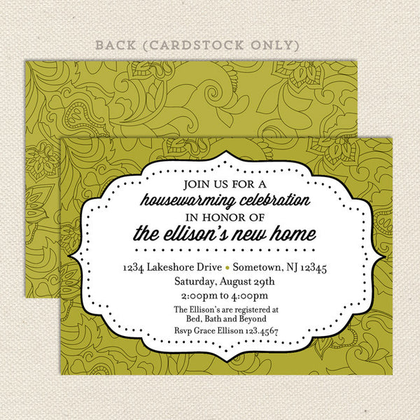 modern bracket housewarming invitations