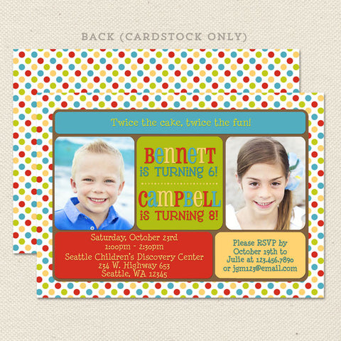 Joint Birthday Invitations gangcraftnet – Sprout Birthday Cards