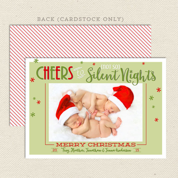 not so silent night christmas card