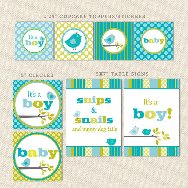 photograph about Printable Baby Shower Banners known as Chook Boy Printable Kid Shower Decorations Lil Sprout