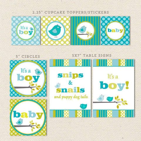 bird boy printable baby shower decorations detail 1