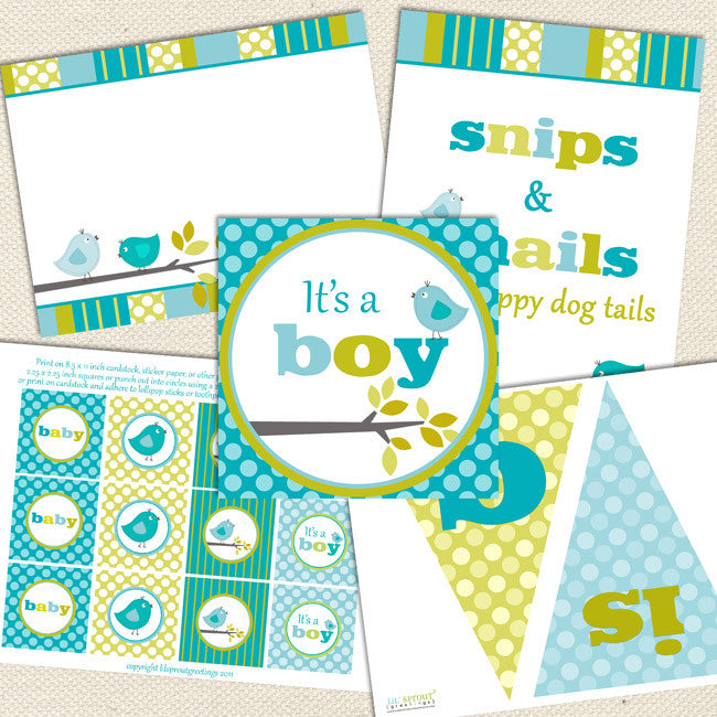 image about Printable Baby Shower Decorations named Fowl Boy Printable Child Shower Decorations Lil Sprout