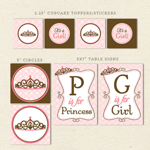 princess printable baby shower decorations detail 1