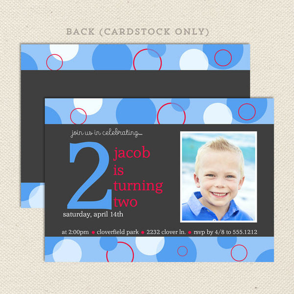 Bubbles Boy Printable Birthday Invitations