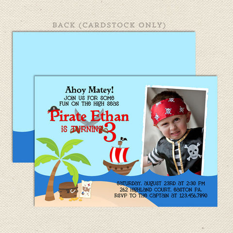 printable pirate boy birthday invitations
