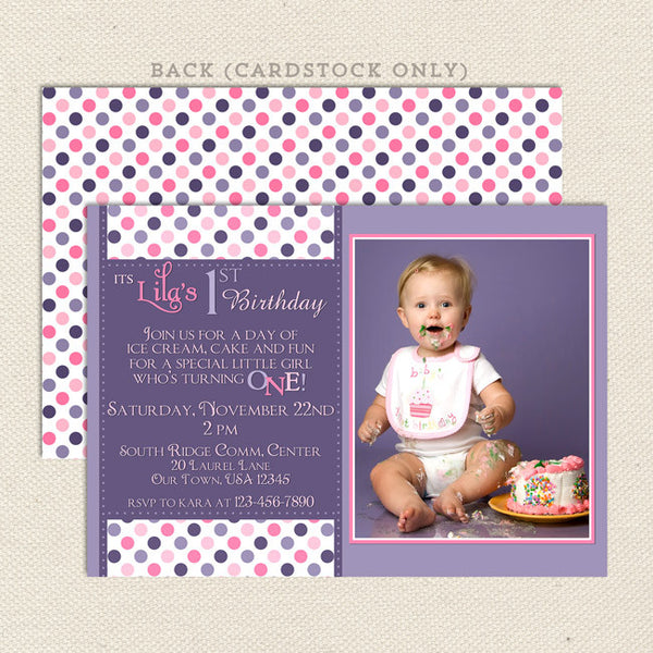 confetti girl printable birthday invitations