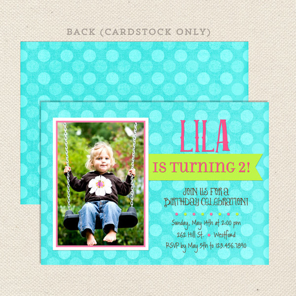shabby chic girl birthday invitations printable
