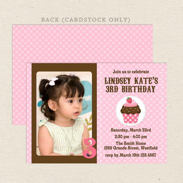 tiny cupcake girl birthday invitations printable