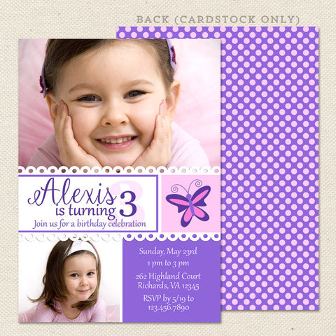simply sweet girl printable birthday invitations