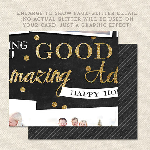 glitter detail amazing adventures christmas card