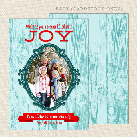 antiqued wood printable christmas cards turquoise