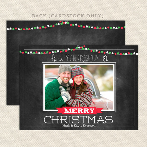 merry lights printable christmas card landscape