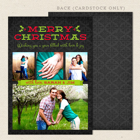merry memories printable christmas card green