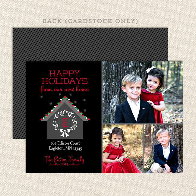 New Home Printable Christmas Card – Lil' Sprout Greetings