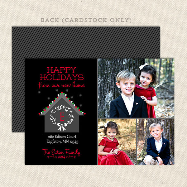 new home printable christmas card