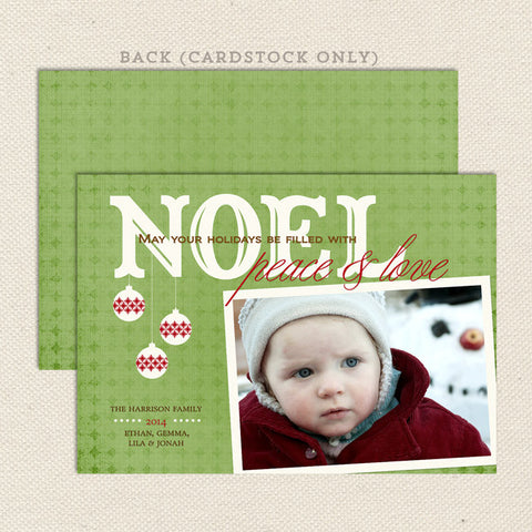 noel printable christmas card soft green