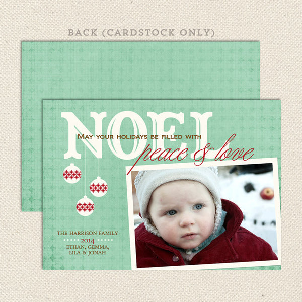 noel printable christmas card aqua blue