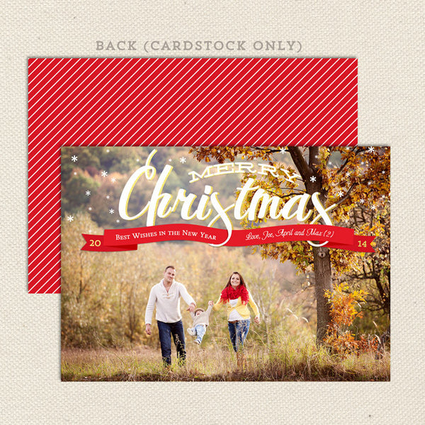 simply xmas printable christmas card