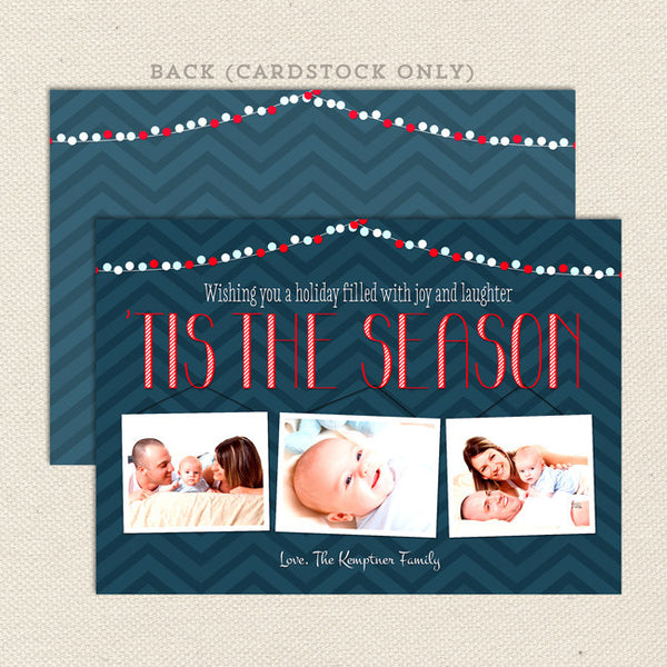 tis the season printable christmas card