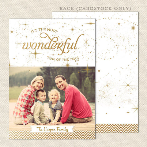 wonderful time of year printable christmas card portrait