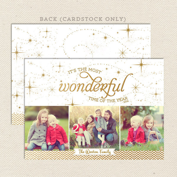 wonderful time of year printable christmas card landscape