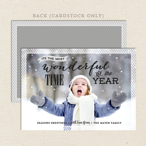 wonderful holiday printable christmas card
