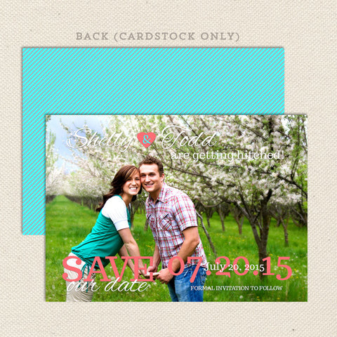 getting hitched save the date announcement