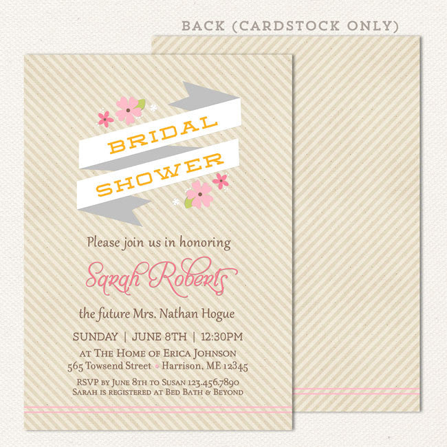 Rustic Country Bridal Shower Invitations Lil Sprout Greetings