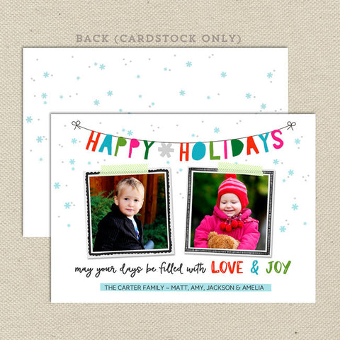whimsical holiday christmas card 2 photo