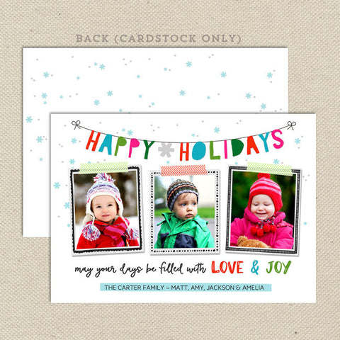 whimsical holiday christmas card 3 photo