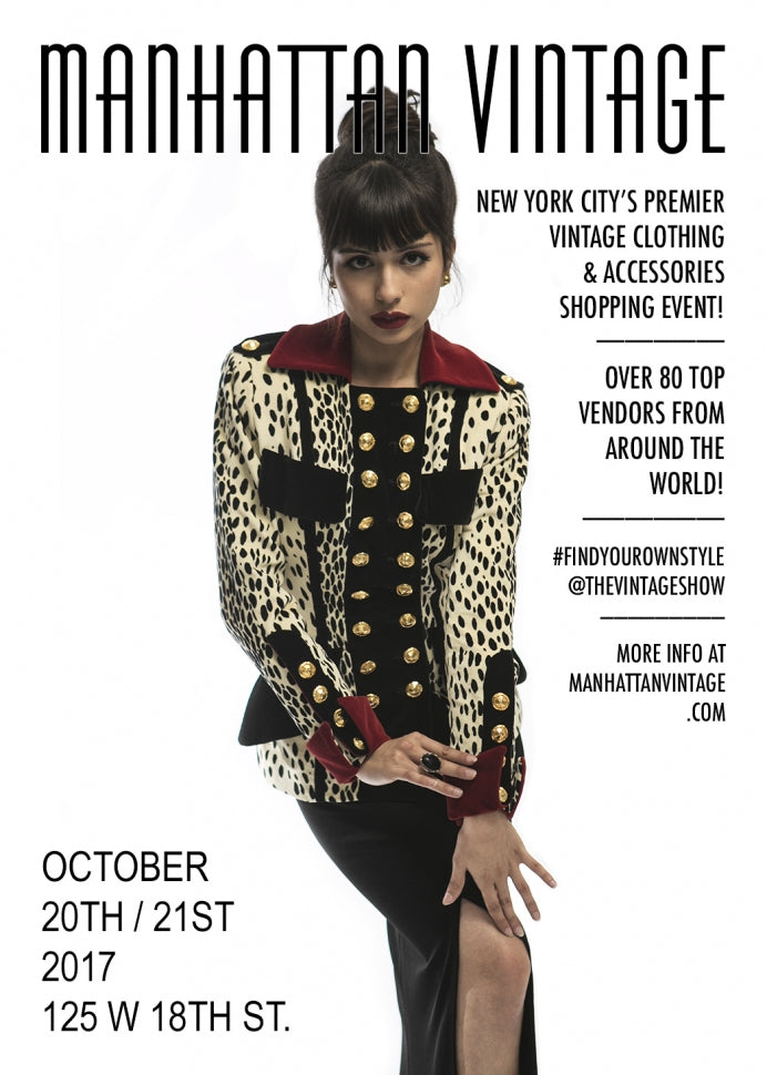 The Manhattan Vintage Show is 25 days away, discount tickets on sale now!