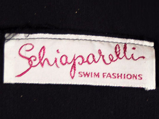 Vintage Schiaparelli Swimsuit Label