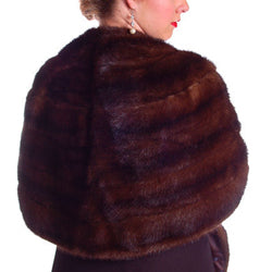 Vintage Stole Dark Brown Mink Fur Pollack's Mink Farm Extra Long AND Lovely