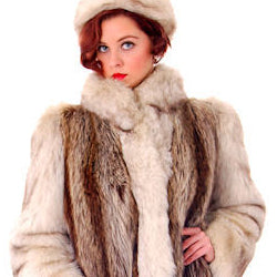 Vintage Fox w/Raccoon Fur Maxi Coat Circa 1990s w/ Matching Hat Paul Magder Furs