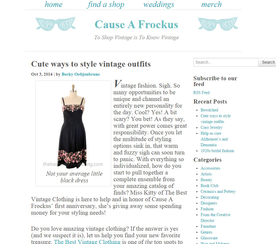 Styling Tips and a Giveaway with 'Cause A Frockus'