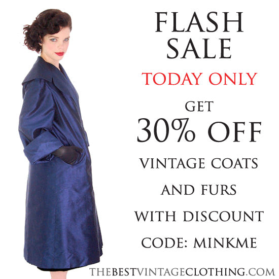 FLASH SALE on Vintage Coats Today Only!