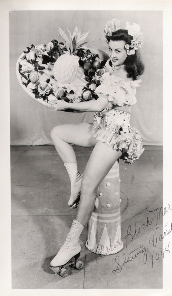 A Signed Photo of Roller Skating Champion Melva Block