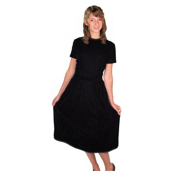 Vintage Suzy Perette Dress Black Silk Velvet Cocktail Dress 1950s 34-24-42 - The Best Vintage Clothing  - 3
