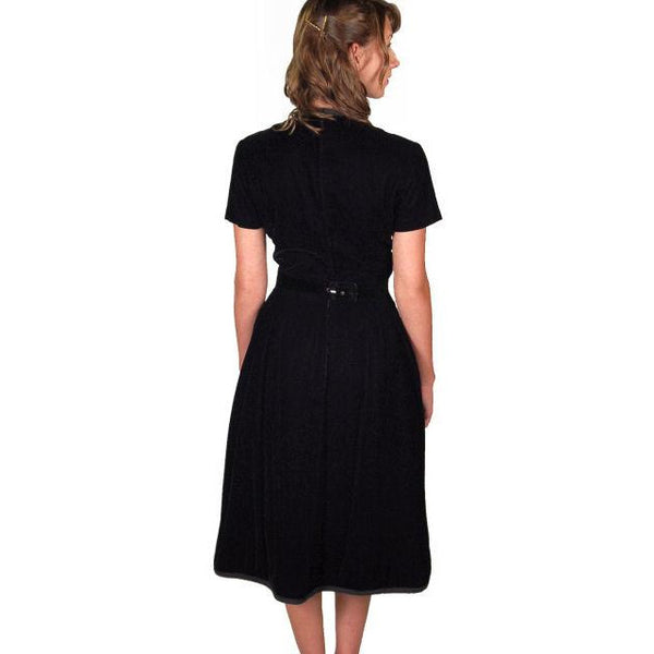 Vintage Suzy Perette Dress Black Silk Velvet Cocktail Dress 1950s 34-24-42 - The Best Vintage Clothing  - 4