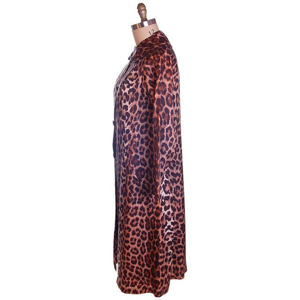 Vintage Leopard  Print Swing Coat 1950S Acetate One Size - The Best Vintage Clothing  - 2