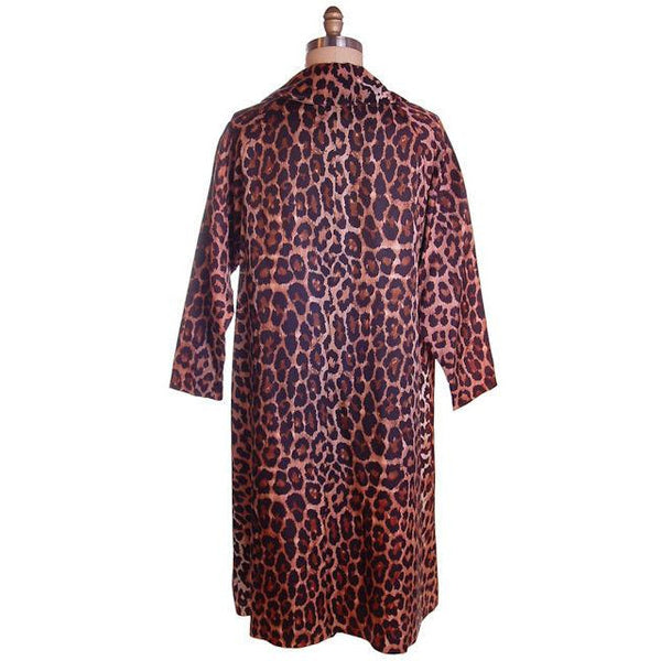Vintage Leopard  Print Swing Coat 1950S Acetate One Size - The Best Vintage Clothing  - 3