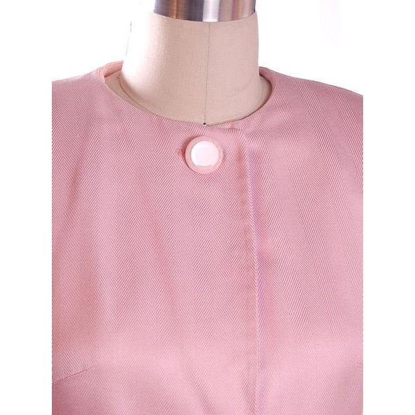 Vintage 1980s Ladies Suit Pink Silk Herbert Grossman Sz 8 - The Best Vintage Clothing  - 6