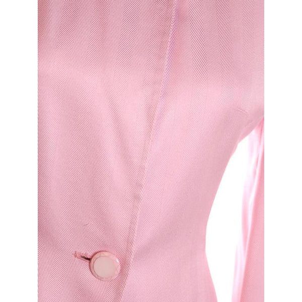 Vintage 1980s Ladies Suit Pink Silk Herbert Grossman Sz 8 - The Best Vintage Clothing  - 7