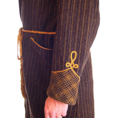 Mens Vintage Black/Green Plaid Wool Robe Jaeger 1940S 46 Chest - The Best Vintage Clothing  - 5